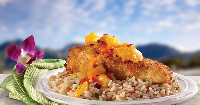 Macadamia Nut Encrusted Snapper with Mango Pineapple Salsa